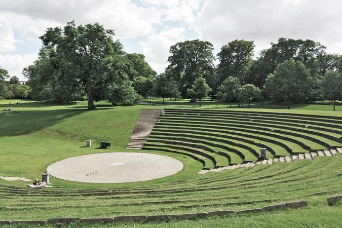 Renovering af amfiteatret i Folkeparken - OPLAND Landskabsarkitekter